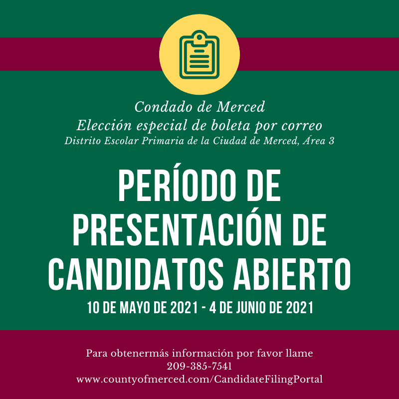 Spanish Candidate Filing Period