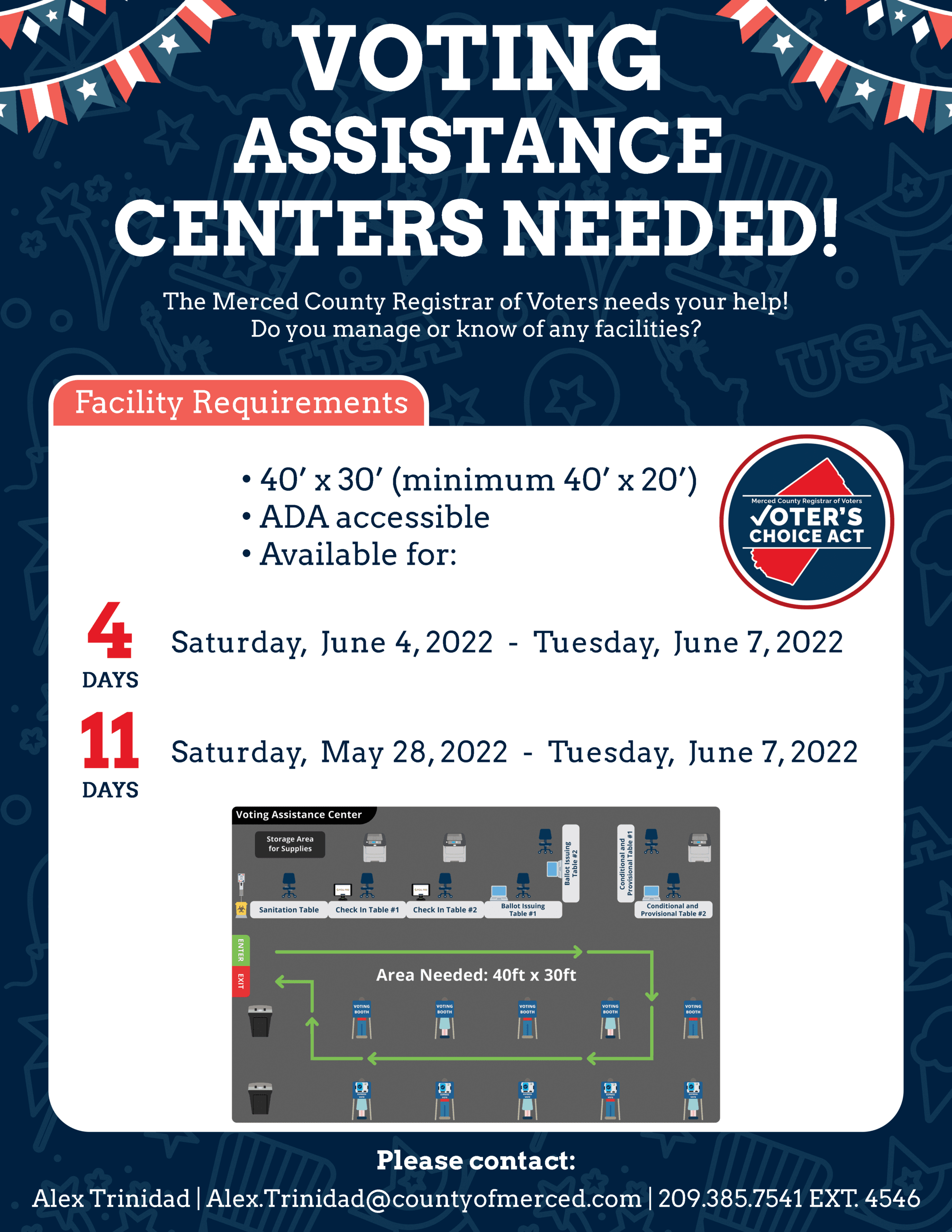 Voter Centers Needed Flyer