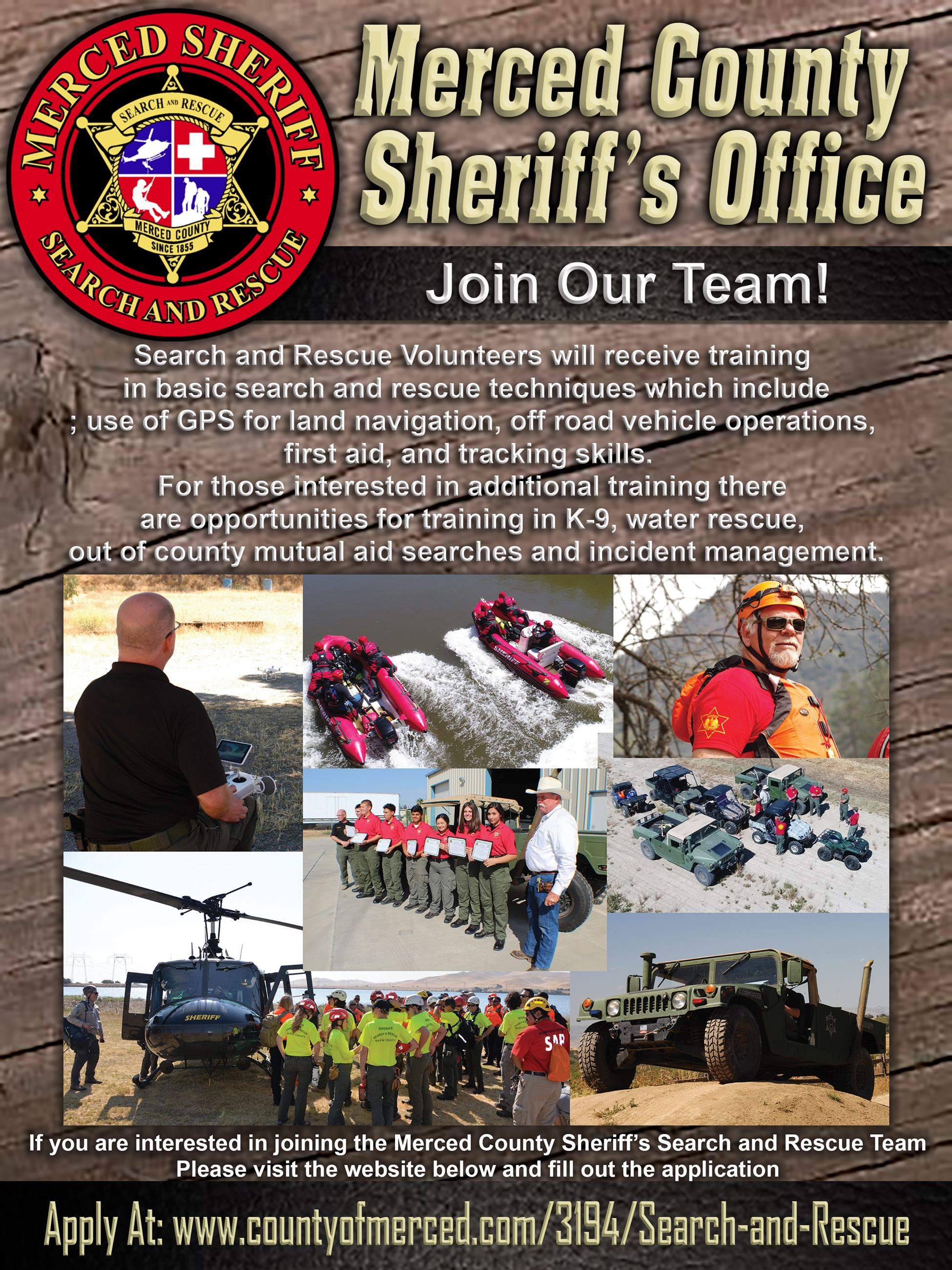 Search and Rescue Recruitment Flier 1 Opens in new window